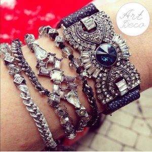 Jewelry | Navy Crystal Cuff